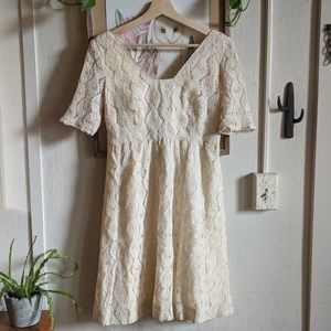 Vintage 50s-60s lace boho babydoll dress